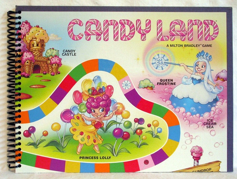 Candy Land Game Board Journal Candyland Notebook