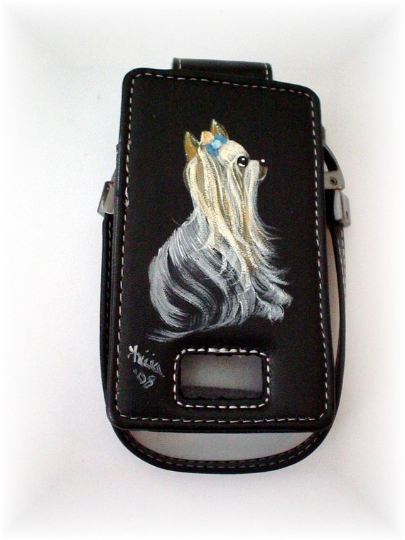 Hand Painted Yorkie Cell Phone Case