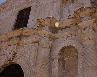 beige cream blue architecture Alamo photograph  HISTORICAL PERSPECTIVE abstract mission San Antonio Texas