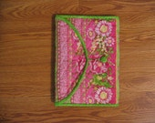Pink and Green Paisley\/Floral Journal Cover
