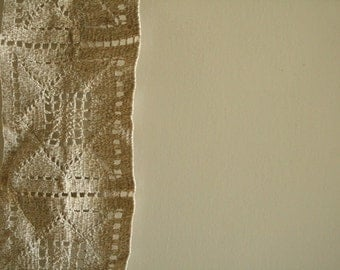vintage LINEN LACE PATCH. crotchet. beige. natural. etsy australia . runningthreads