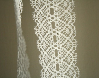 3 meters WHITE LACE TRIMMING. wedding bridal. lingerie. supplies by runningthreads
