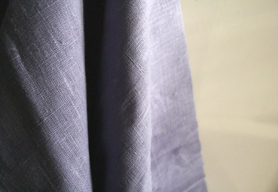 LINEN FABRIC in french lavender / linen cloth / yardage