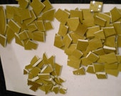 Hand Cut Retro Plate Tiles in Gold  Mosaic Tile Set  Reserved