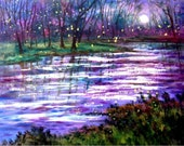 Fireflies  and Moonlight  Print    Vadal 12 x 18 - ALL prints Buy 2 get 1 FREE