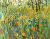 California Poppy  Meadow   print by Vadal 8x10 -  buy 3 get 1 free
