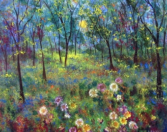 SALE LARGE Canvas  PRINT 22 x 22  Sun Meadow  by  Vadal reg price 89.0