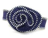 Zipper Rosette Bracelet- Purple 04