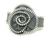 Zipper Rosette Bracelet- Light Gray LIMITED EDITION