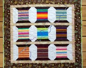"Sewing Art Quilt Wall Hanging, ""Sew Many Choices"""