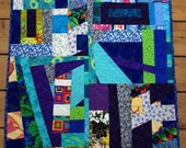 Bright Contemporary Scrap Quilted Wall Hanging