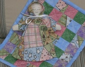 Miniature Cloth Doll and Matching Quilt
