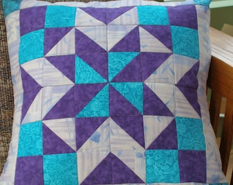 Star Quilted Pillow Cover, 16 Inch