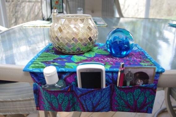 Quilted Bedside Organizer, 3 Storage Pockets, Gift under 20