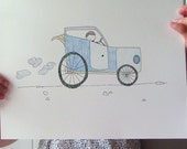 Automobile Limited Edition Print. 8.5 x 11