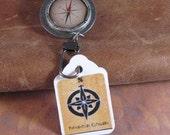 Compass Pattern Badge Holder - RESERVED for alyssey1816