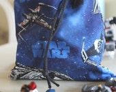 small toy bag tote drawstring Star Wars Ships