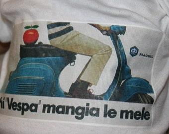 vintage Vespa Motorino Ad t-shirt or onesie