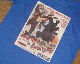 Old School King Kong Godzilla Shirt