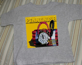 punk rock pennywise tee shirt about time