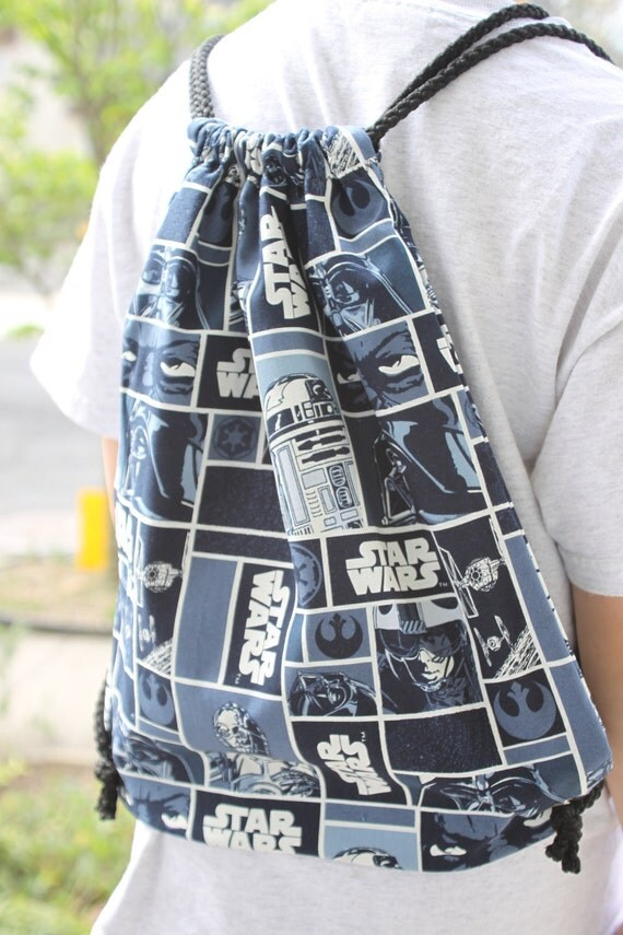 Star Wars Squares Draw String Kids' Backpack