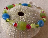 Sale: Inspired by Monet - Bracelet with Blue and Green Beads