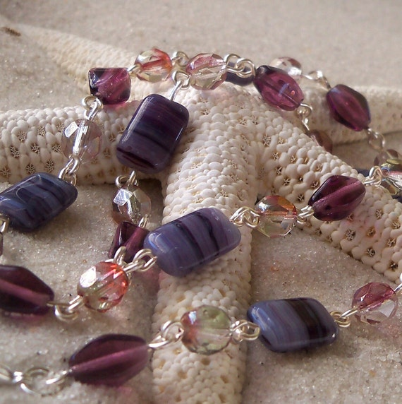 Amethyst Glass Necklace