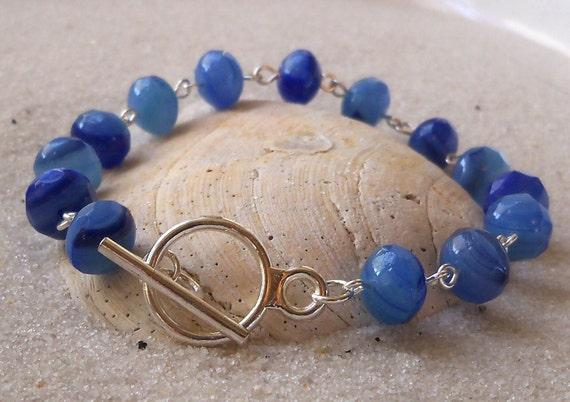 SALE - Milky Sapphire Blue Bracelet