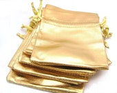 Bag - Gold metallic pouches (10 bags)
