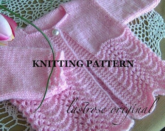 Feather and Fan Baby Sweater Pattern