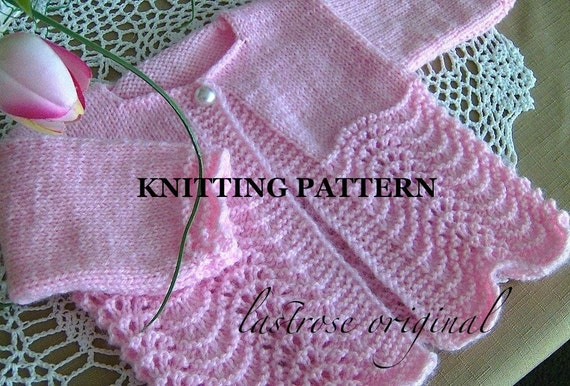 Feather And Fan Baby Knitting Patterns : Feather and Fan Baby Sweater Pattern