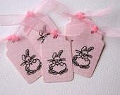 RESERVED ORDER for cbrook1  --  Set of 15 Bunny Love Mini Tags