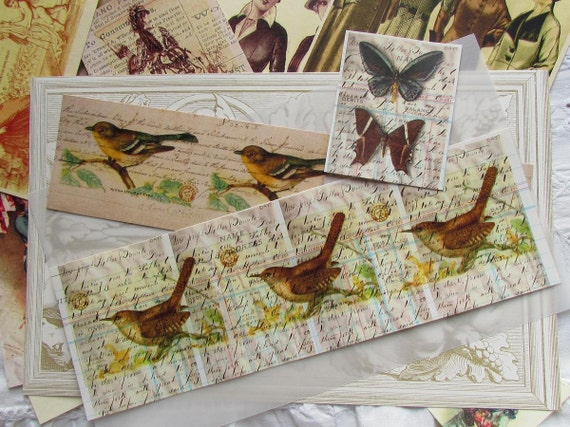 RESERVED ORDER ....Sweet Paper pack kit..Birds..Butterfly..Fashion