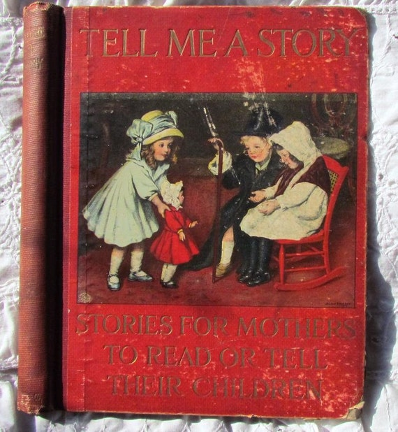 Antique Book Cover..Tell Me A Story