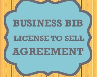 License to Sell Agreement - Business Bibs