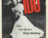 Billy Idol White Wedding Album Cover Card