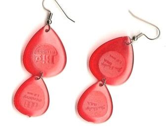 Double Drops Guitar Pick earrings--SALE!!!