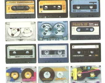 Colorful Cassette Tapes card