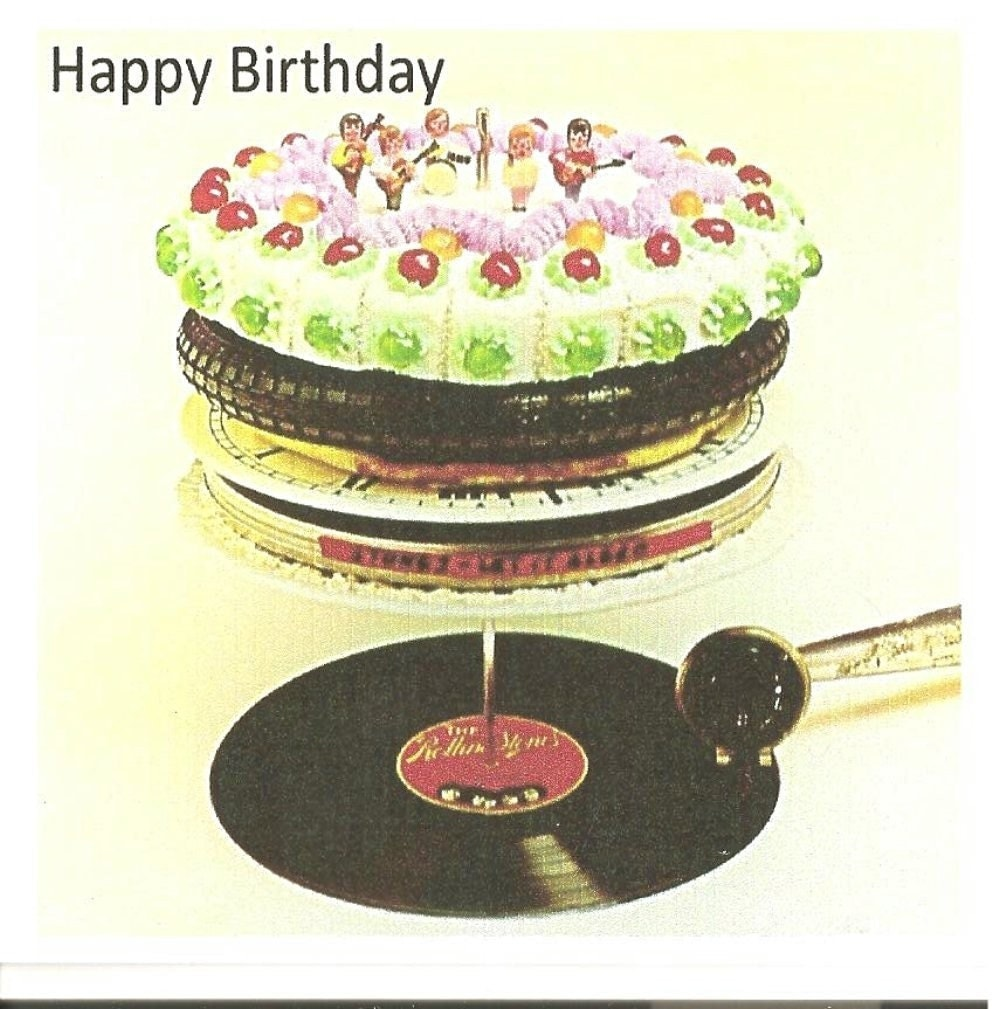 rolling stones birthday card by whattherock on etsy, Birthday card
