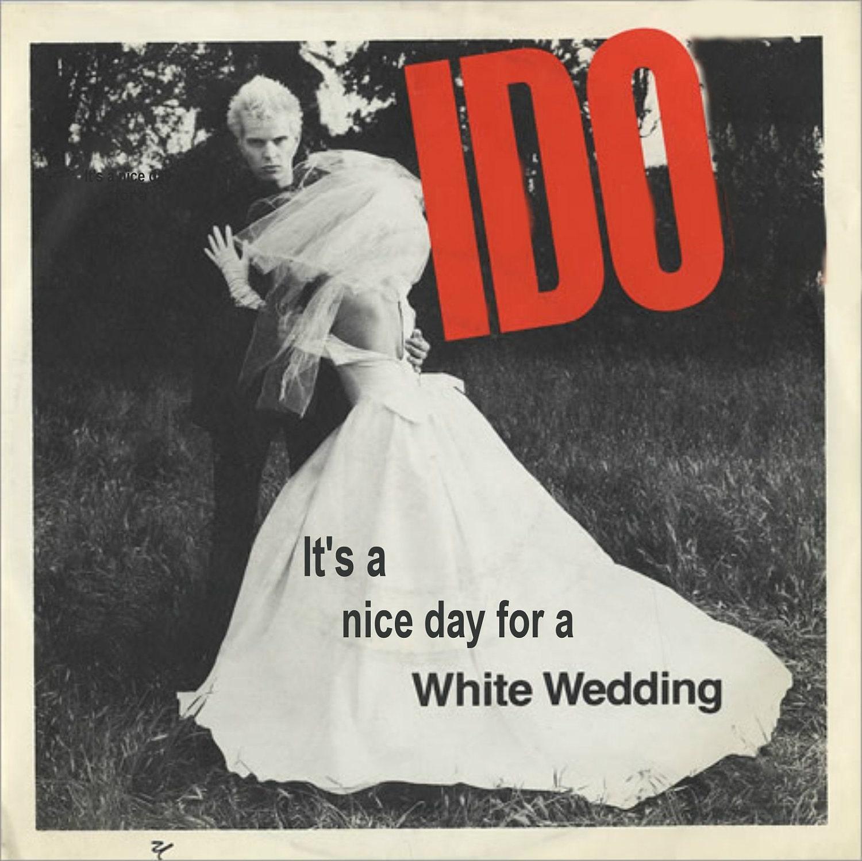 White Wedding Video: Billy Idol White Wedding Album Cover Card