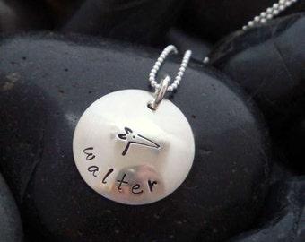 Greyhound jewelry - Greyhound pendant - My Greyhound Personalized Pendant - Sterling silver