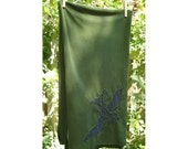 Sparrow Hand-Stitched Army Green Jersey Scarf