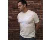 Organic Eagle Hand-Stitched Mens/Unisex Short Sleeve Tee Size XL