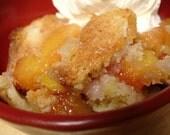 The Yummiest Peach Cobbler