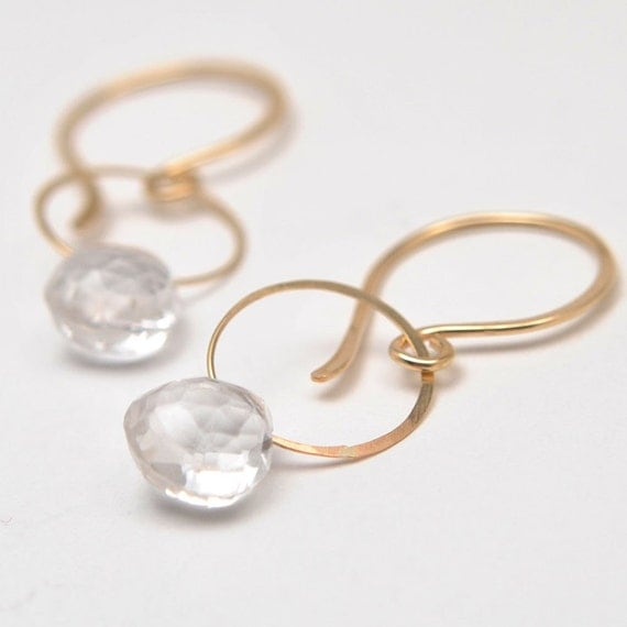 orbital earrings in quartz by favorjewelry on etsy