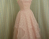 Sweet 1950s Lorrie Deb party dress size small