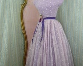 Lovely lilac 1940s party dress size small