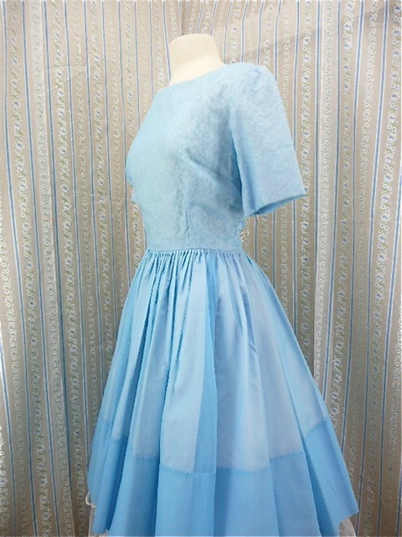 Darling baby blue party dress size medium