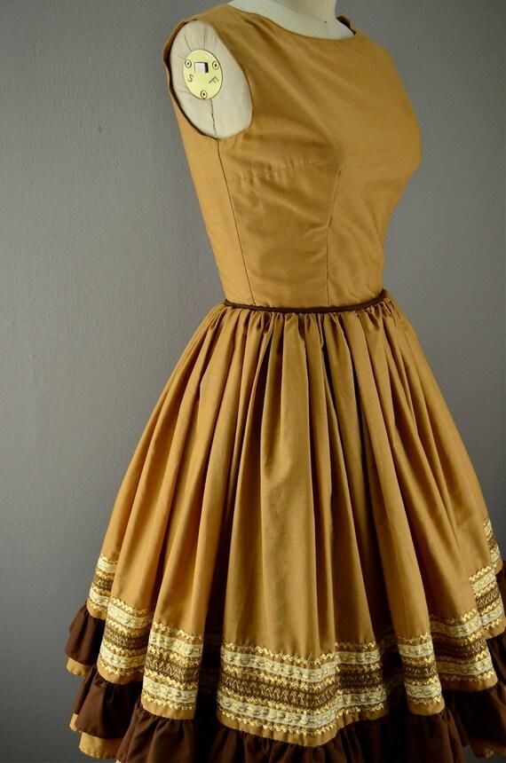 Vintage swing dress / 60s party dress / 1960s rockabilly dress
