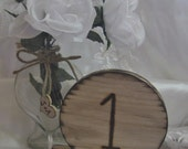 Rustic Wedding Table Numbers 1-12 Natural Wood Reception Party Woodburned Eco Friendly